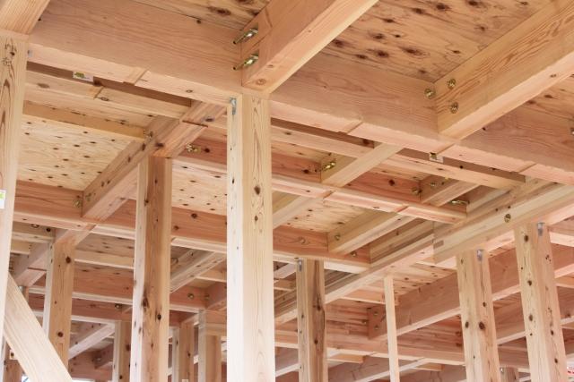 戸建て住宅の骨組み
